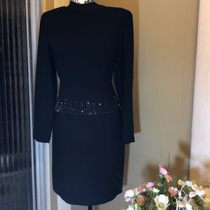 Jones of New York long sleeve dress size 8 in blk.